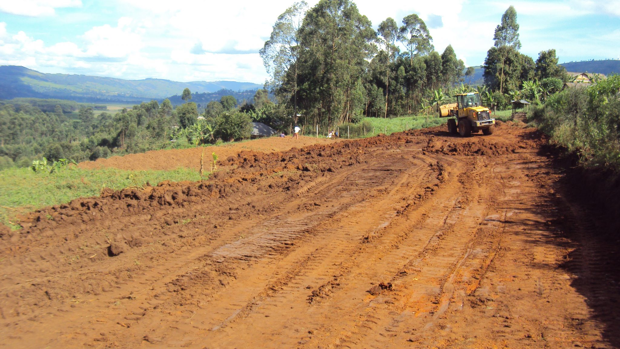 Land levelling at location to build street children home