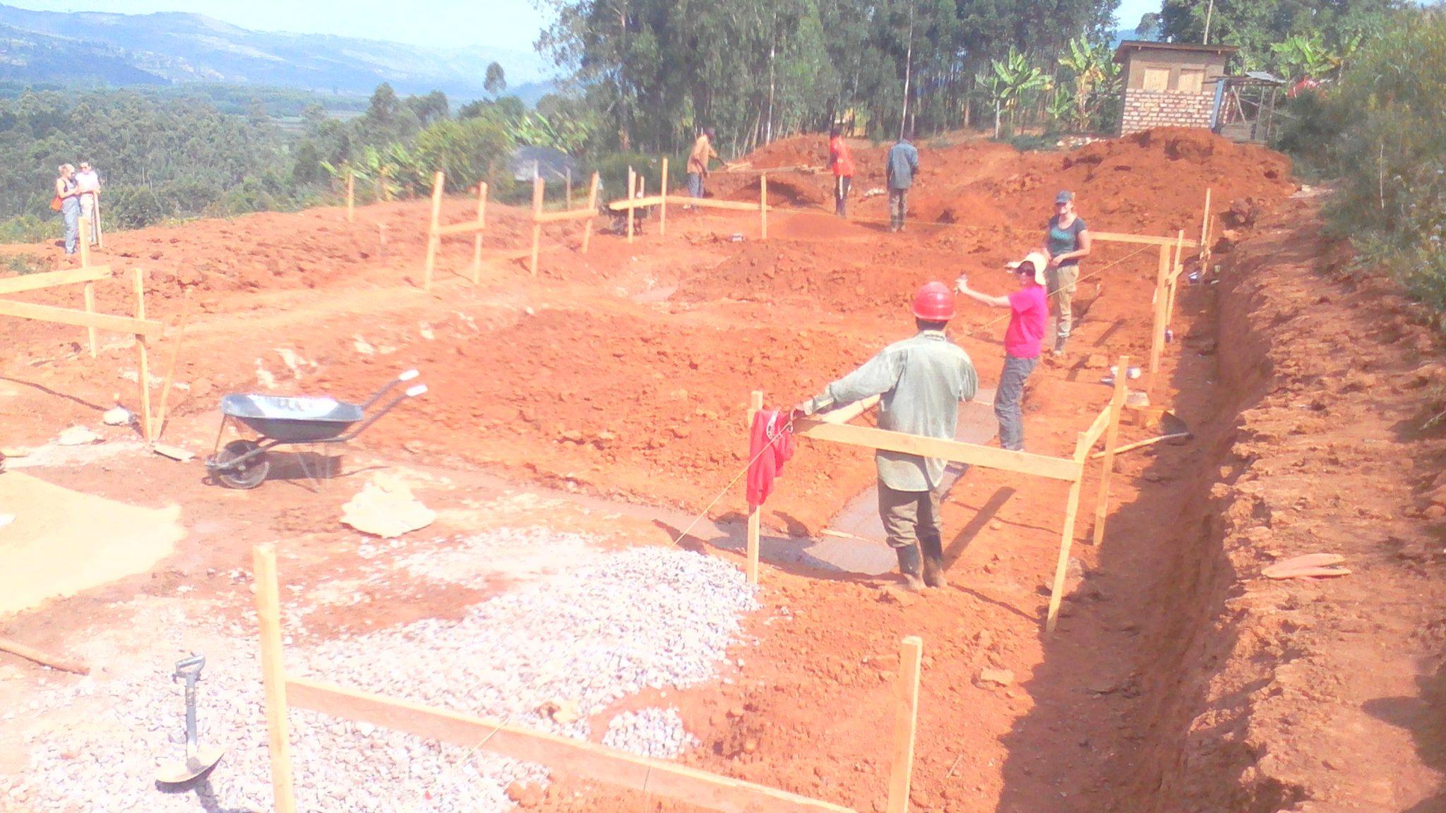 Foundations under way