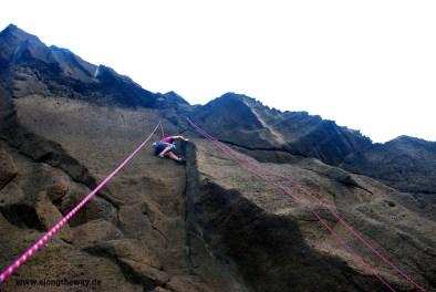 Ich beim Klettern bei Ferraria