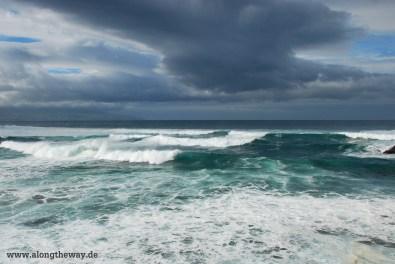 Azoren Wellen an der Nordküste