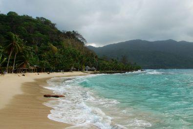 Der Strand von La Miel bei Sapzurro.
