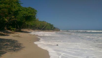 Der Strand bei Flut