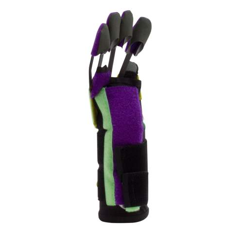 AlonTree Glove for stroke recovery is easy to put on with one hand