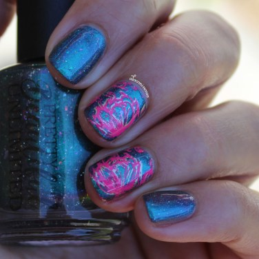 Shaded with Nail Art