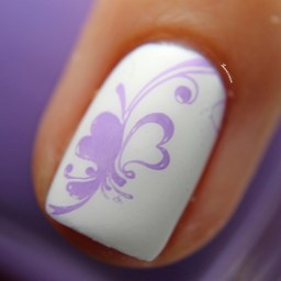 Stamped over Marshmallow Matte Macro