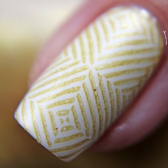 Matte stamped over white