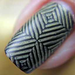 Matte stamped over black