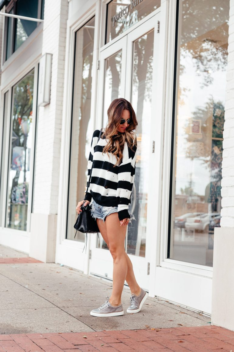 Shorts and Sweaters: My Fav Fall combo via A Lo Profile.