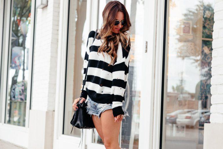 Shorts and Sweaters: My Fav Fall combo via A Lo Profile.