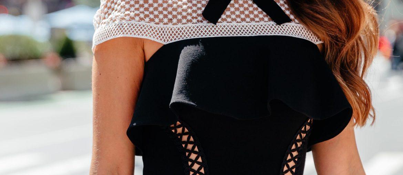 No Gray Area: black and white dresses via A Lo Profile