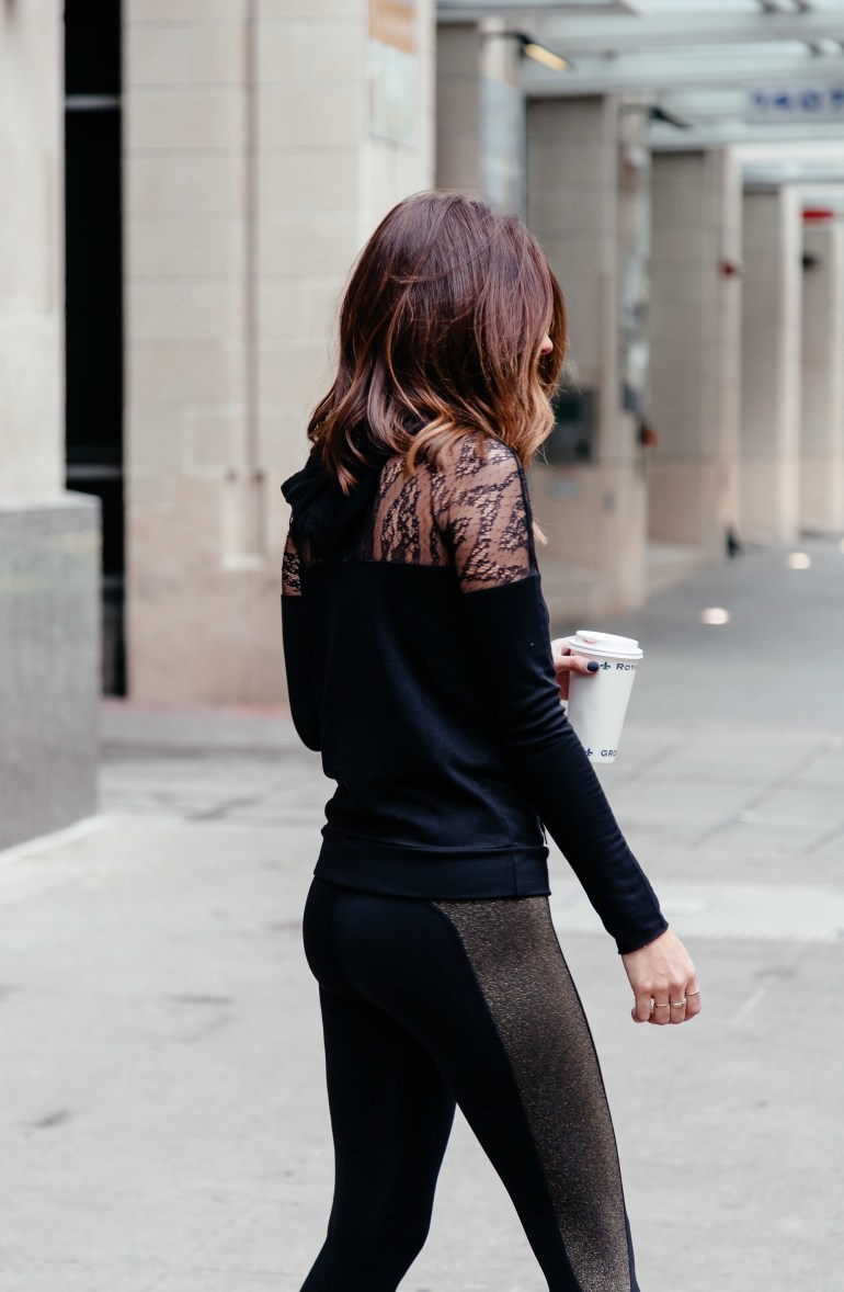 Sparkle as you sweat: Dallas blogger sharing two metallic activewear looks and a roundup of the cutest metallic and sparkly athleisure and workout gear. Click through to shop!