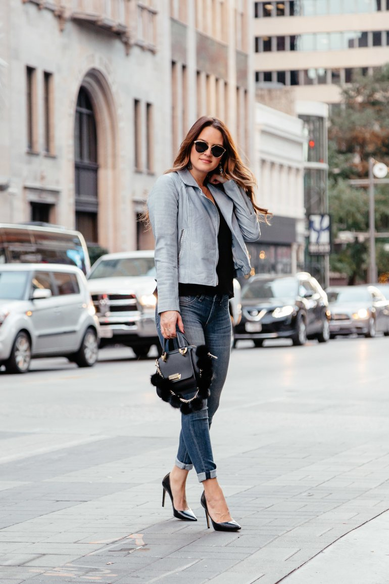 Sharing my love for colored leather during the winter months and a round up of my favorite colored leather jackets in a range of prices.