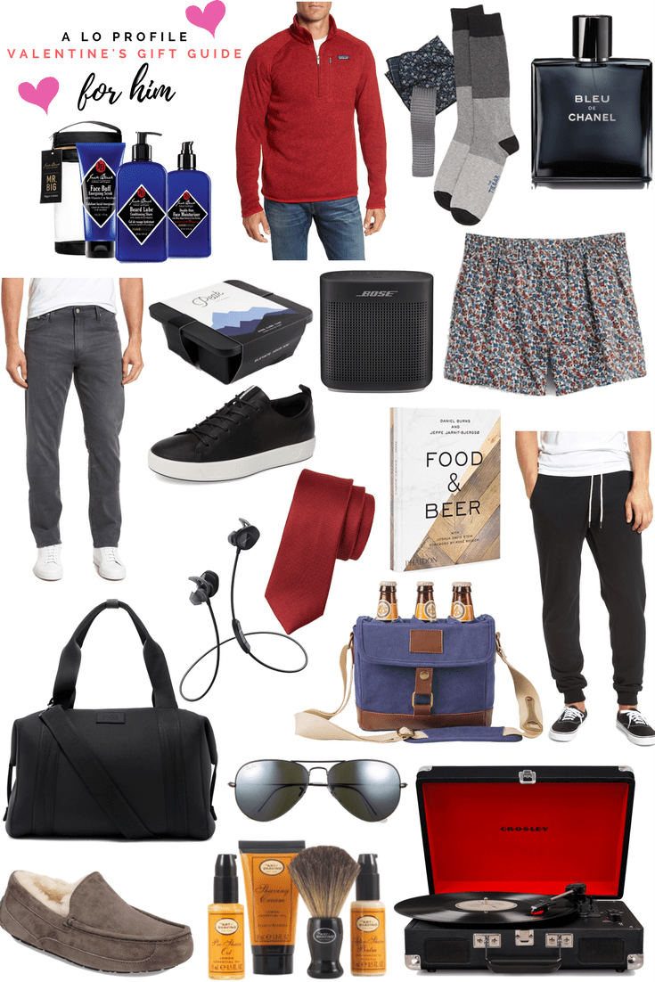 Valentine's Gifts for Him: Dallas blogger sharing her top picks to make up a Valentine's Gift Guide for the guy in your life with both big and small gifts in all price ranges.
