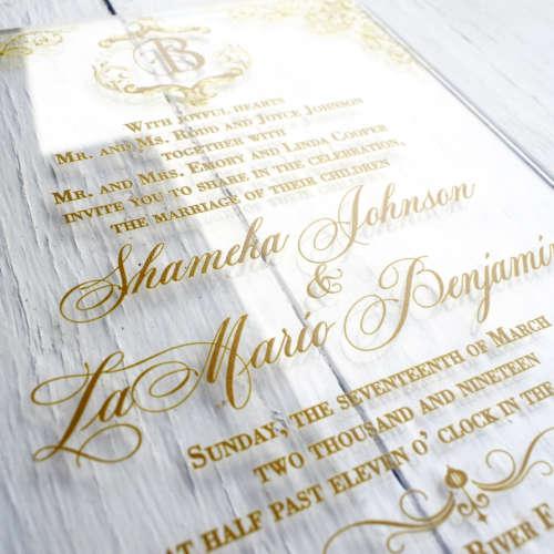 Acrylic Wedding Invites