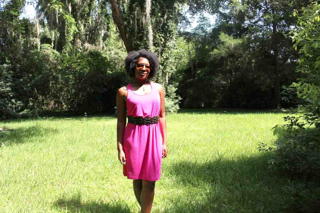 week in review old navy pink dress
