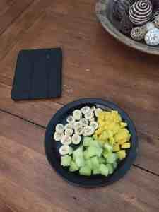 mango banana canteloupe breakfast