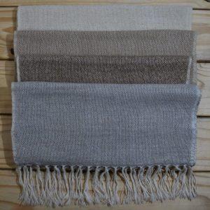 Alpaca Shawl Plain Weave