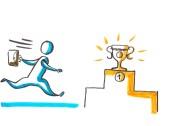 courir vers le succès