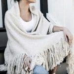 Alpakka poncho og sjal