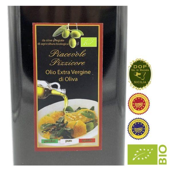 Olio extra vergine di oliva val di mazara 2020 D.O.P I.G.P BIO
