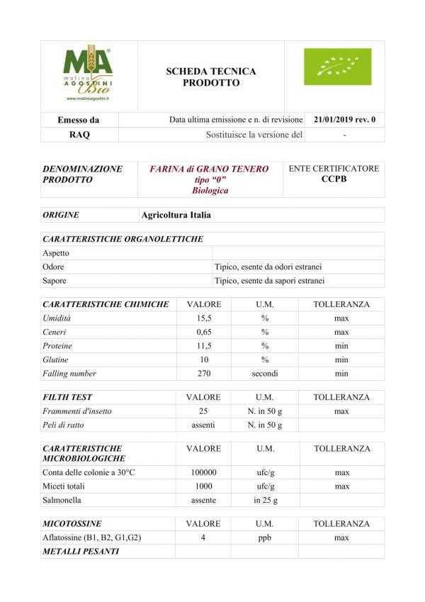 FARINA DI GRANO TENERO TIPO 0 W200 BIO