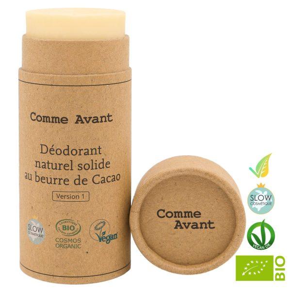 Deodorante Solido Naturale con Burro di Cacao Biologico