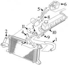 Circuit de refroidissement TRANSIT I 2.5 Diesel 1986-1995