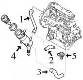 Durite de recyclage Diesel et Turbo Diesel 306 1.9 D et TD