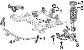 Suspension avant et support moteur TRAFIC I 1.9 Diesel