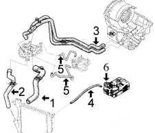 Circuit de refroidissement TWINGO C3G, 1.200 cc (avant 5