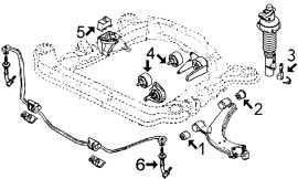 Suspension avant et support moteur BX 1.4 avant 89, moteur