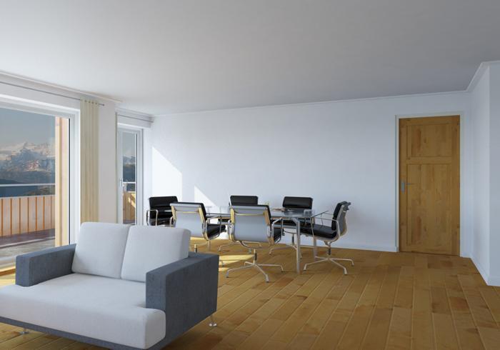 Woonkamer En Slaapkamer : Sarnen appartement kanton obwalden stockenmatt