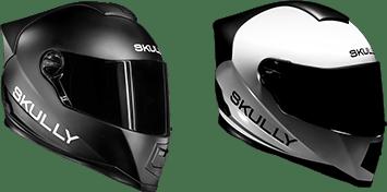 Den Skully AR1 gibt es in Mattschwarz und Weiß glänzend.