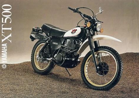 1980 Yamaha XT500 Prospekt (Quelle: Yamaha)