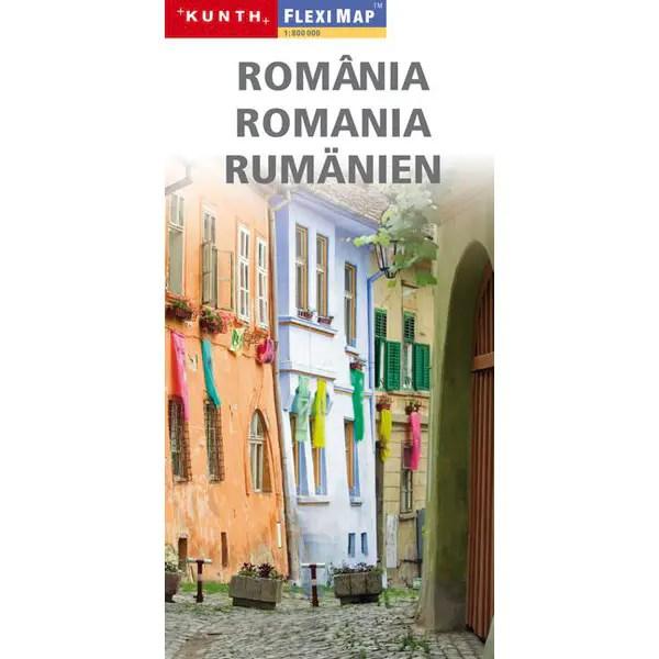 wegenkaart gelamineerd Roemenië