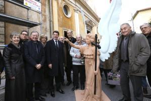 Le retour de l'ange sur le clocher de l'Eglise Saint Barthélémy