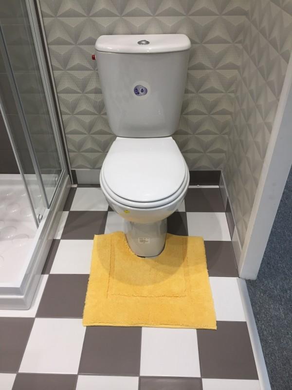 tapis de bain contour wc et lavabo 100 coton manihi 50x45 cm jaune