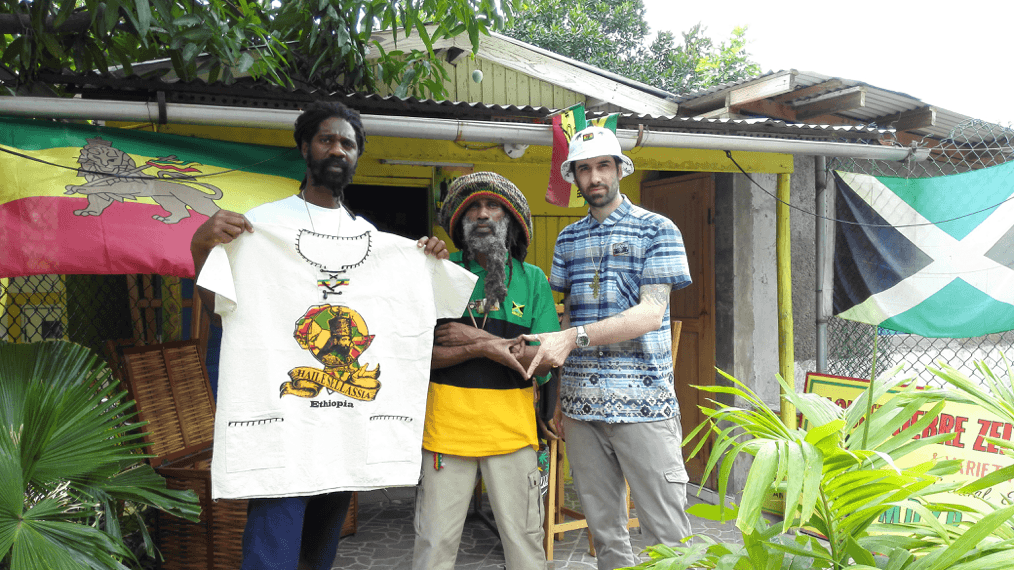 Figure 4: From left to right: Ras Kalheb Selassie, Ras Malekot and Sebastien.