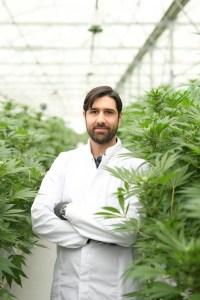 Sebastien Beguerie, AlphaCAT Founder in his greenhouse's client
