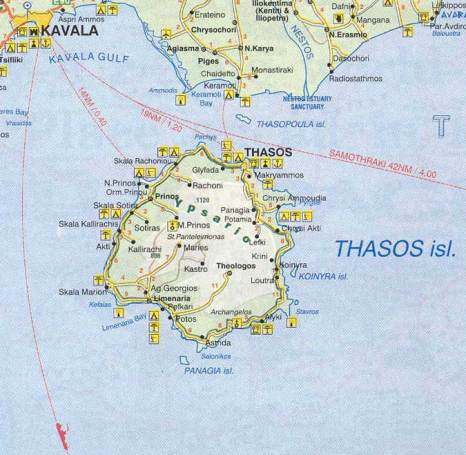 Billedresultat for thassos map