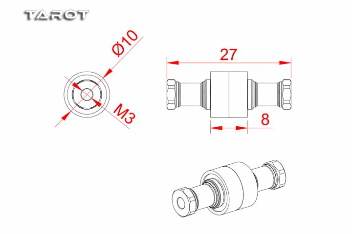 Tarot RC 550/600 Heli Belt Bearing and Tail Control MK6072