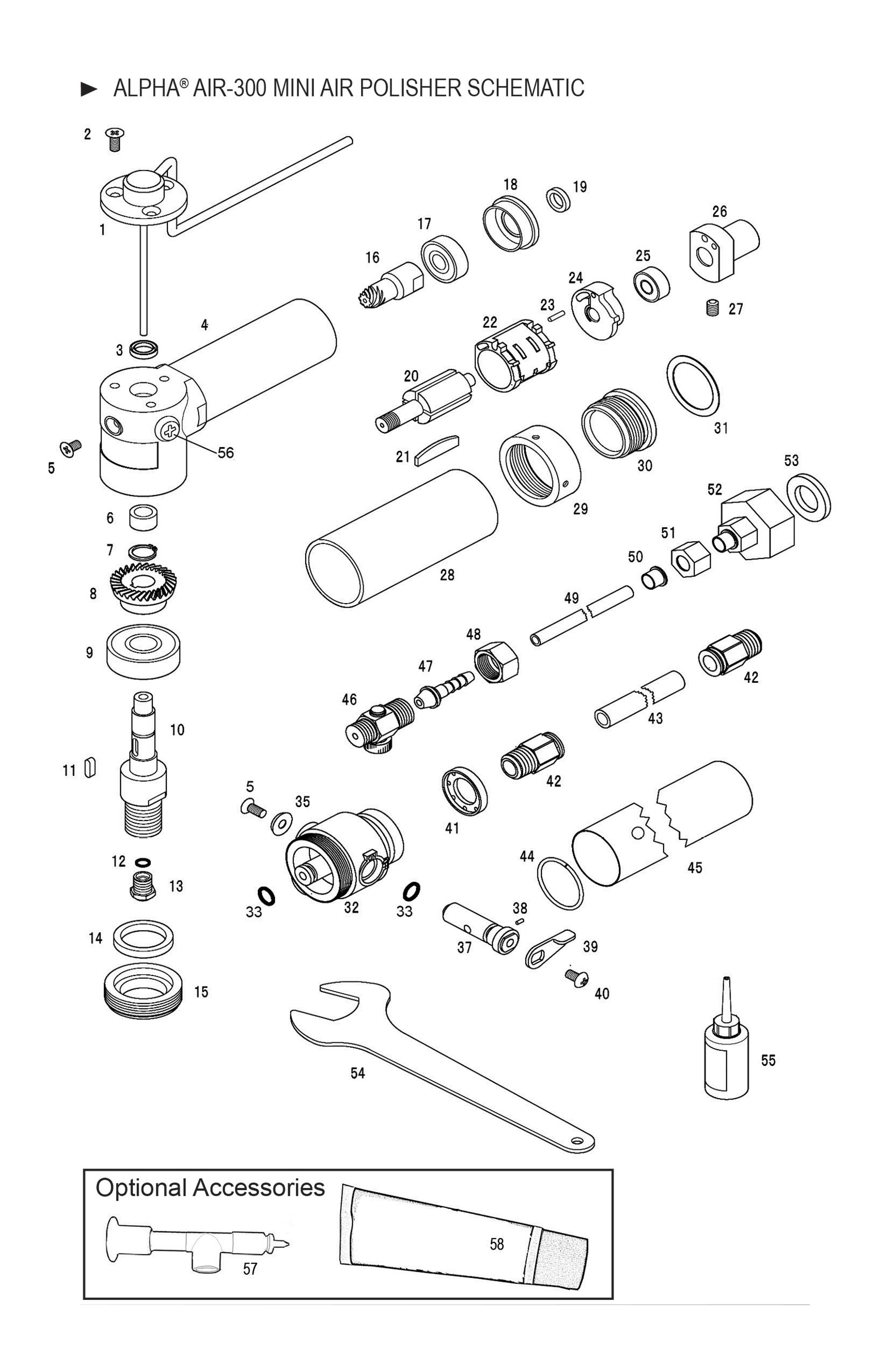 Spare Air Parts Diagram