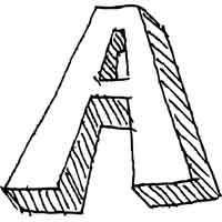 Large Block Letter A » Alphabet Coloring