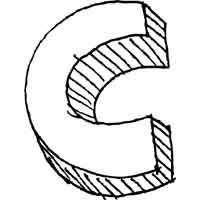 Large Block Letter C » Alphabet Coloring