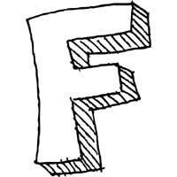 Large Block Letter F » Alphabet Coloring