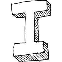 Large Block Letter I » Alphabet Coloring