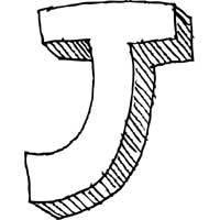 Large Block Letter J » Alphabet Coloring