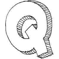 Large Block Letter Q » Alphabet Coloring