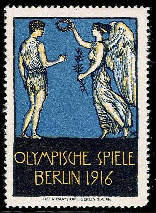 POSTER STAMPS AND LABELS OF THE OLYMPIC GAMES  1916