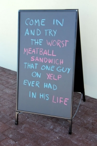 chalkboard a frame restaurant